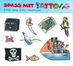Spass mit Tattoos 1. Motive: Piratenfahne, Schatzkiste, Säbel u.ä.